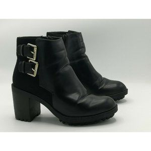 Zara Trafaluc Platform Chunky Heel Ankle Booties